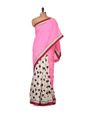 Pretty Pink Bhagalpuri Silk  Saree - Purple Oyster