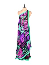 Abstract Print Georgette Saree - Fabdeal