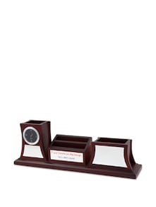 Brown Wooden Pen Stand A Watch 3 Pcs - Cosmos Galaxy