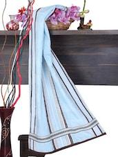 Soft Blue Cotton Bath Towel - Aqua Pearl