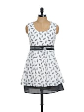 Printed White Summer Dress - Magnetic Designs