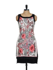Floral Print High-low Dress - Magnetic Designs