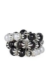 Multi-strand Black And White Pearl Bracelet - ChicKraft