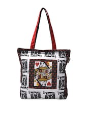Fashionable Playing Cards Print Tote Bag - Pick Pocket