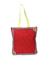 Floral Print Red Handbag - Pick Pocket