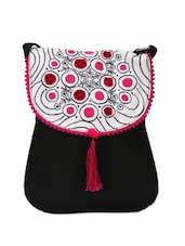 Black Sling Pink With Stunning Embroidery - Pick Pocket