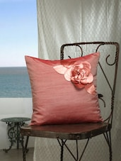 Onion Pink Floral Cushion Covers - Dekor World