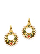 Earrings Embellished With Meenakari Work - Voylla