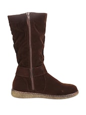 Fashionable Brown Knee High Boots - Stylistry