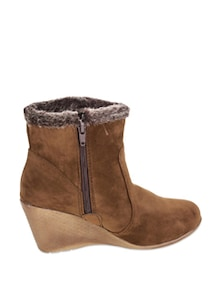 Classy Brown Ankle Length Boots - Stylistry