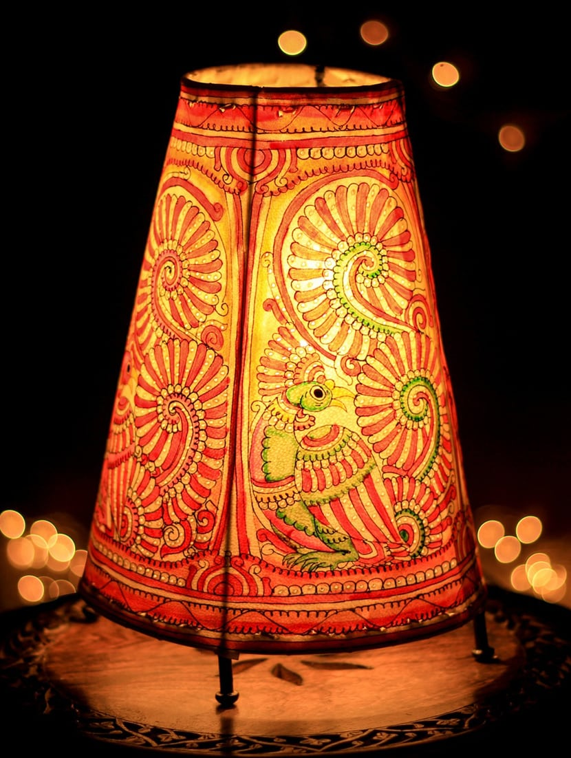 Buy cock leather puppetry floortable lamp by unravel india online explore this look hover over image to zoom aloadofball Images