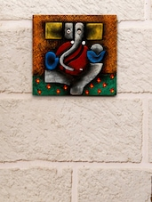 Terracotta Abstract Ganesha Wall Décor - Unravel India