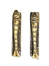 Fish Brass Door Handle(Set Of 2) - Unravel India