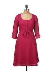 Pink Front Tie-Up Dress - Meira