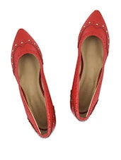 Dull Red Embellished Pointed Bellies - Addons