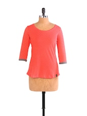 Coral Polka-Dotted Top - CULT FICTION