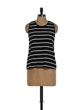 Black And White Striped Top - Hypernation