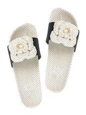 Floral Dotty Black Flip Flops - ZACHHO