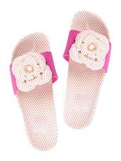 Floral Dotty Pink Flip Flops - ZACHHO