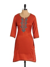 Elegant Brown Kurta With Stunning Embroidery - Aaboli