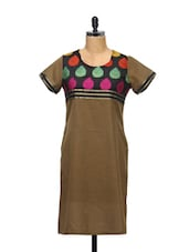 Simple Cotton Kurti With Zari Details - KYLA F