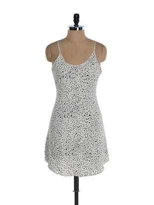 Hearts monochrome chemise dress