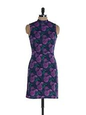 Purple Bloom Open Back Dress - @ 499