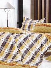 Cotton Twill Geometric Printed Double Flat Bed Sheet Set - Just Linen
