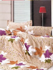 Cotton Twill Autumn Fall Printed Queen Size Fitted Bed Sheet Set - Just Linen