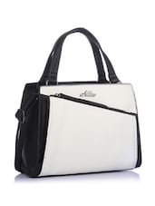 Stylish Off-white And Black Tote Bag - Addons