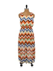 Chevron Aztec Print Breezy Dress - EVogue.Me