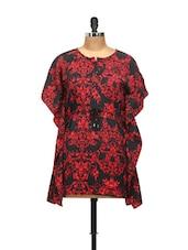 Red And Black Kaftan Style Top - L'elegantae