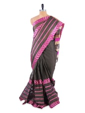 Stylish Black Saree With Blouse Piece - ROOP KASHISH