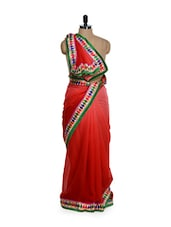 Ombre Red Georgette Saree - Get Style At Home