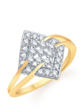 Diamond Cut Diamante Gold Ring - VK Jewels