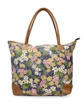 Multi-coloured Floral Print Tote Bag - Moac