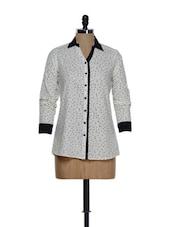 White And Black Printed Shirt - Eavan