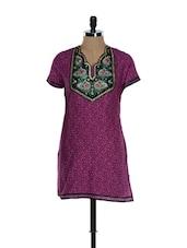 Purple Printed Kurti - Needle Value