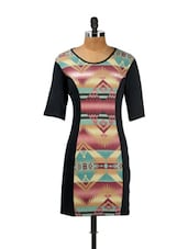 Aztec Print Multicoloured Dress - CHERYMOYA