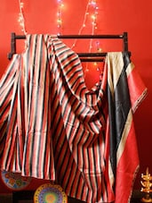 Colorful Vertical Striped Saree - RiniSeal