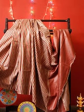 Red And Rust Bhagalpuri Silk Saree - RiniSeal