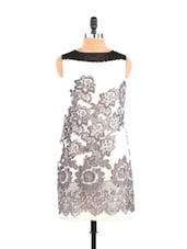 Floral Print Monochrome Dress - Free Spirited