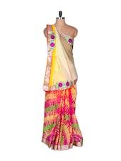 Multi-colour Art-silk Saree, With Matching Blouse Piece - Saraswati
