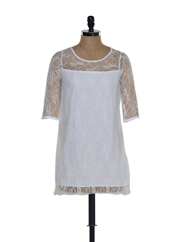 White Lace Dress - Eavan
