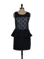 Black Lacy Peplum Dress - Eavan