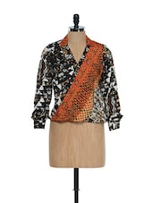 Multi Polyester Crepe Full Sleeves Top - HERMOSEAR