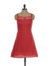 Strappy Red Cotton Dress - Guster Ve..