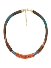 Multi Seed Beads Stiff Necklace - Savi