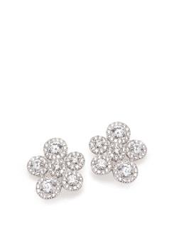 Sterling Silver Diamond Earrings - Tanya Rossi, Italy 9021
