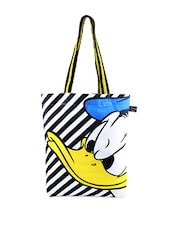 Multi-coloured Striped Donald Duck Print Tote Bag - Be... For Bag